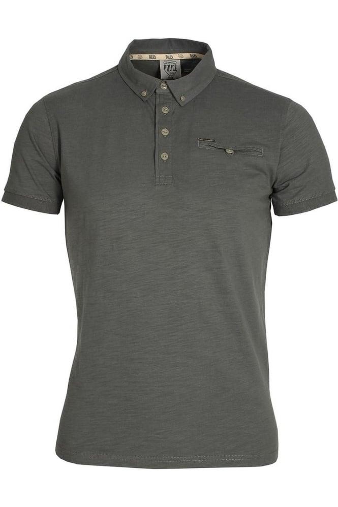 883 POLICE Adric Polo Shirt | Grey Marl & Phantom Black