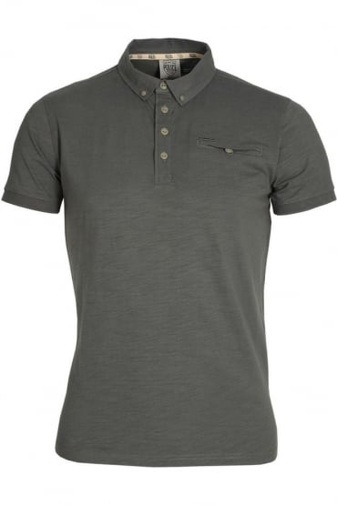 Adric Polo Shirt | Grey Marl & Phantom Black