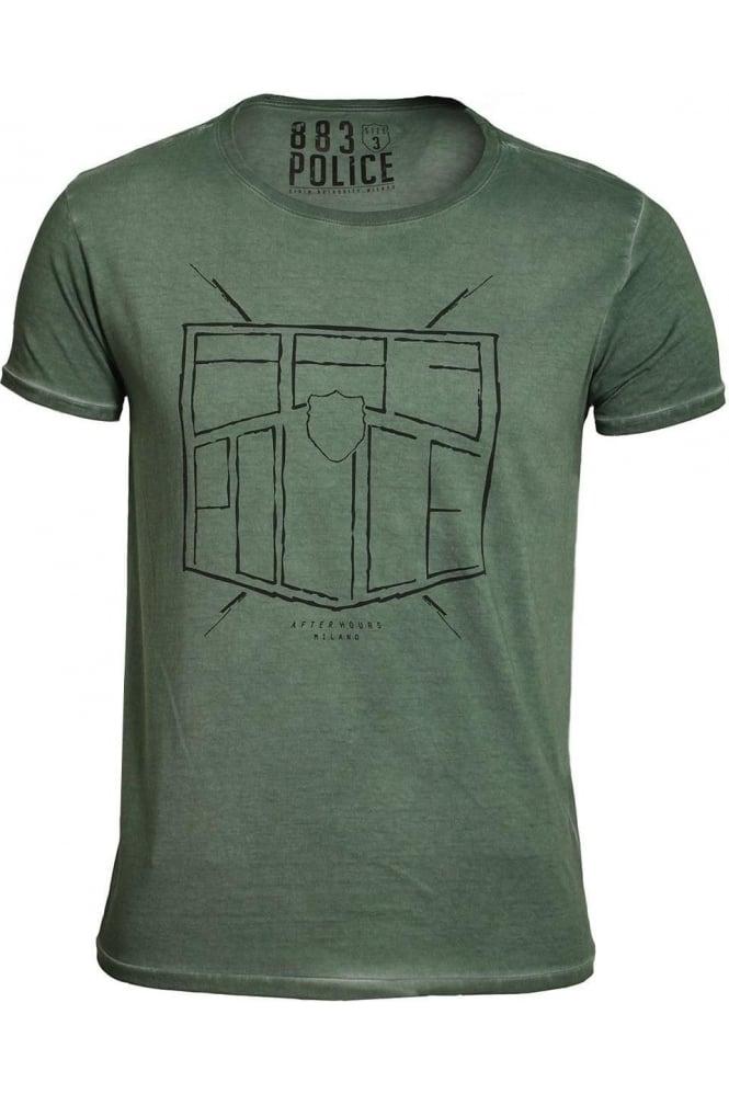 883 POLICE Antonio T-Shirt | Seapine Green & Off White