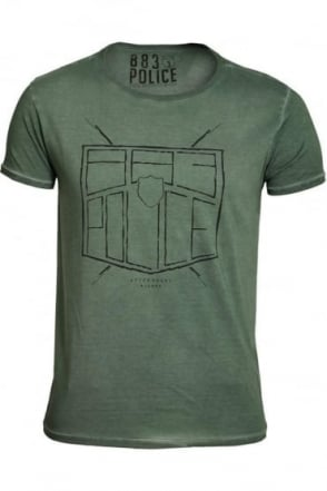 Antonio T-Shirt | Seapine Green & Off White