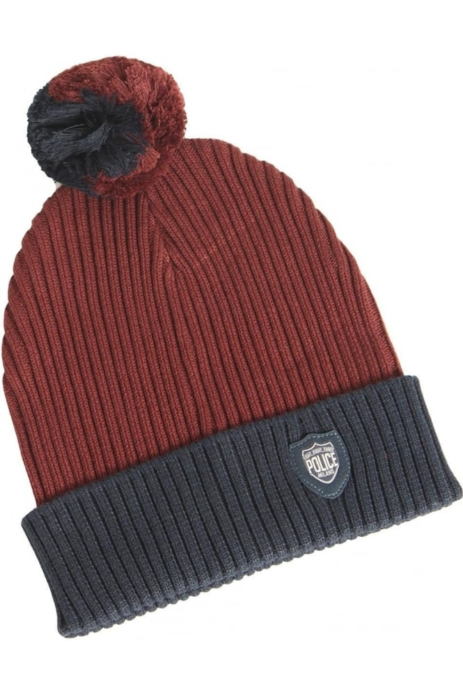 883 POLICE Arctic Bobble Hat | Navy/Red