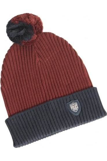 Arctic Bobble Hat | Navy/Red