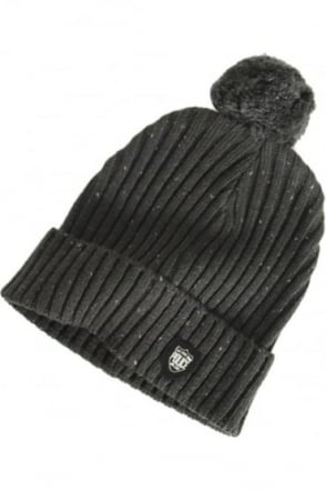 Artic Bobble Hat | Charcoal & Navy