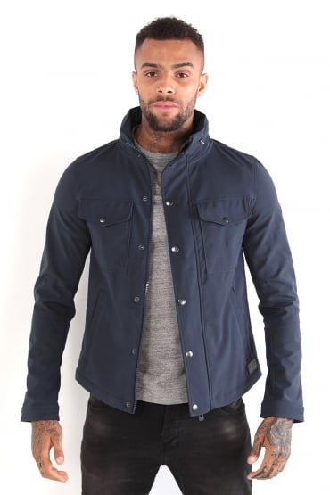 Arvin Navy Hooded Jacket