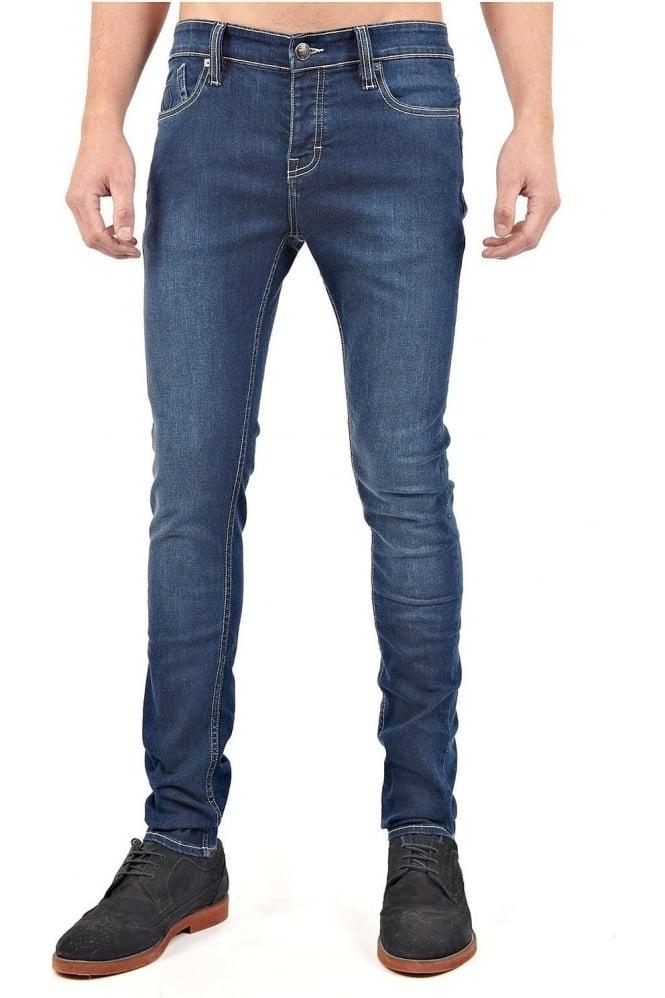 883 POLICE Ashton Skinny Fit Jeans | Dark Blue Wash