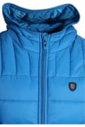 883 POLICE Beres Hooded Gilet | Blue & Mustard