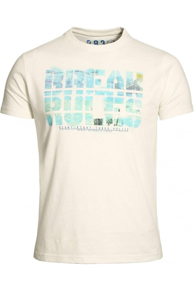 883 POLICE Break The Rules T-Shirt | Off White