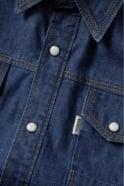 883 POLICE Bronco Long Sleeve Denim Shirt | Mid Wash