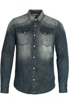 Bronco Long Sleeve Denim Shirt