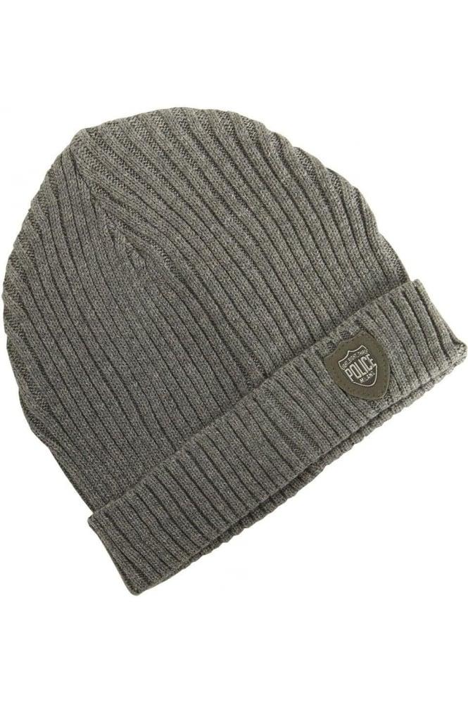 883 POLICE Bussola Beanie Hat | Grey & Black