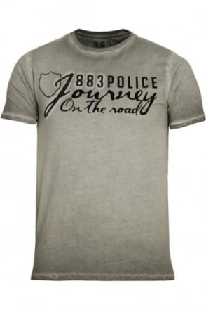 Chance Graphic Print T-Shirt | Grey