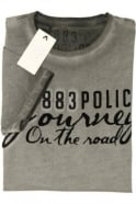 883 POLICE Chance Graphic Print T-Shirt | Grey