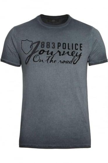 Chance Graphic Print T-Shirt | Navy