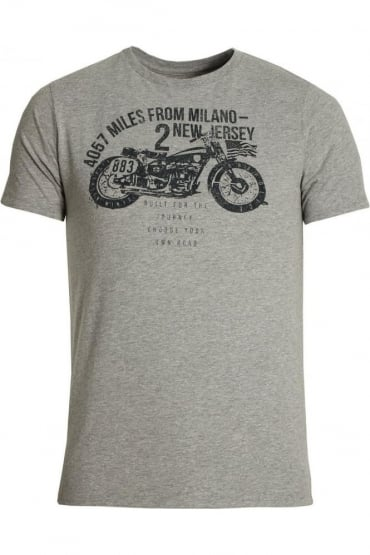 Coyote Graphic Print T-Shirt | Marl Grey