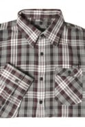 883 POLICE Cyprez Long Sleeve Plaid Shirt | Grey