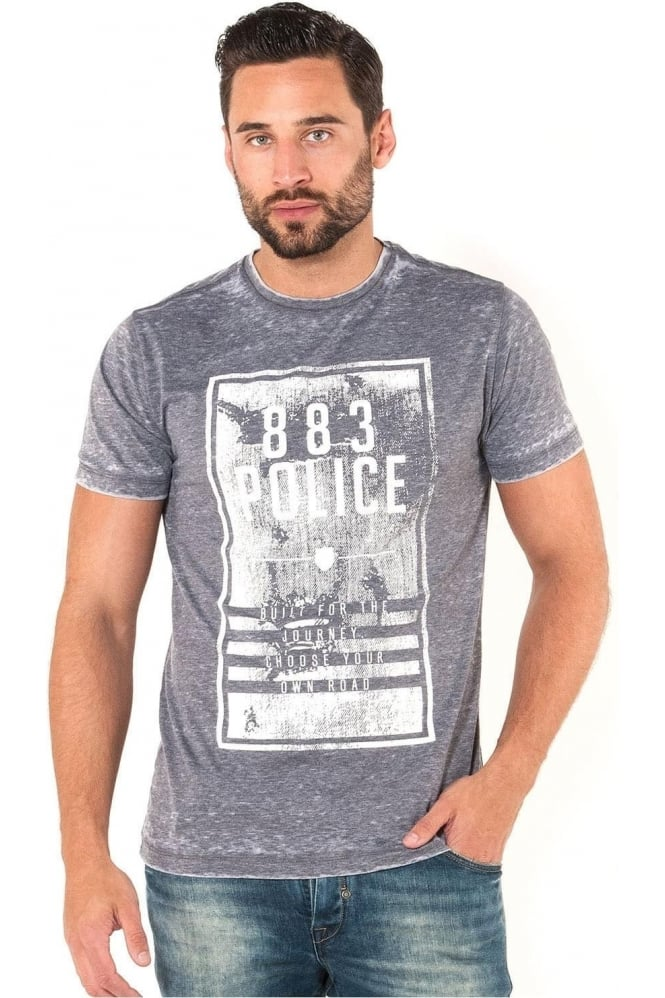 883 POLICE Division Graphic Print Men's T-Shirt | Navy