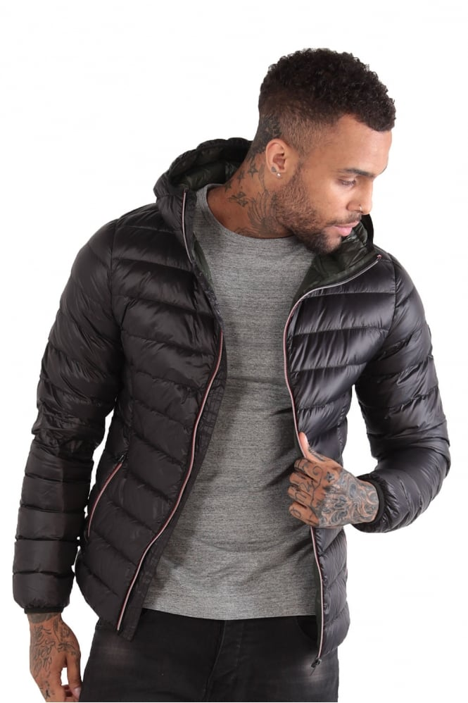 883 POLICE Downer Hooded Duck Down Jacket | Black