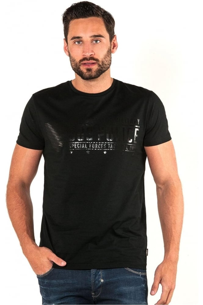 883 POLICE Dupree Graphic Print Men's T-Shirt | Black