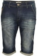 883 POLICE Flash Faded Denim Shorts
