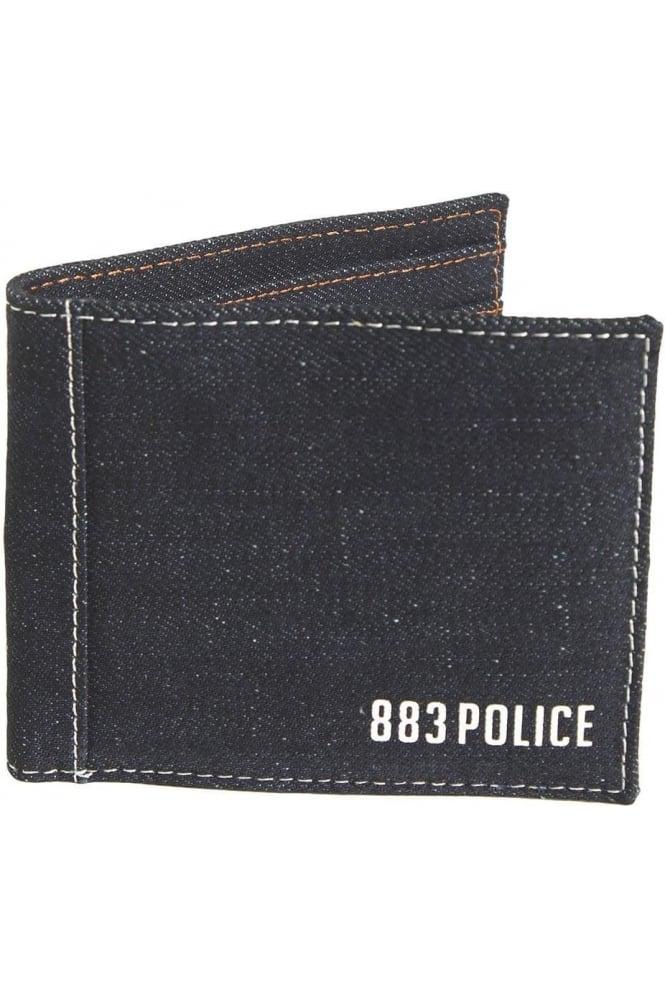 883 POLICE Fly Denim Wallet | Blue
