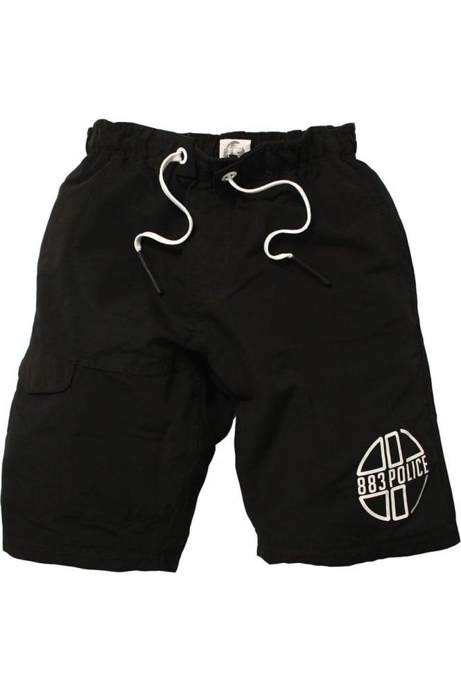 883 POLICE Foster Swim & Board Shorts   Black