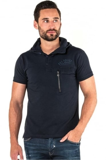 Grafton Men's Hooded Polo Shirt | Navy