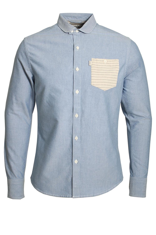 883 Police Gravity Lond Sleeve Slim Fit Denim Shirt 883