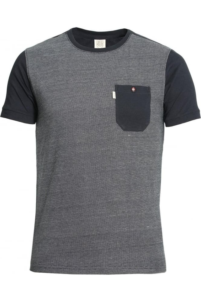 883 POLICE Haxton Pocket T-Shirt Eclipse Navy