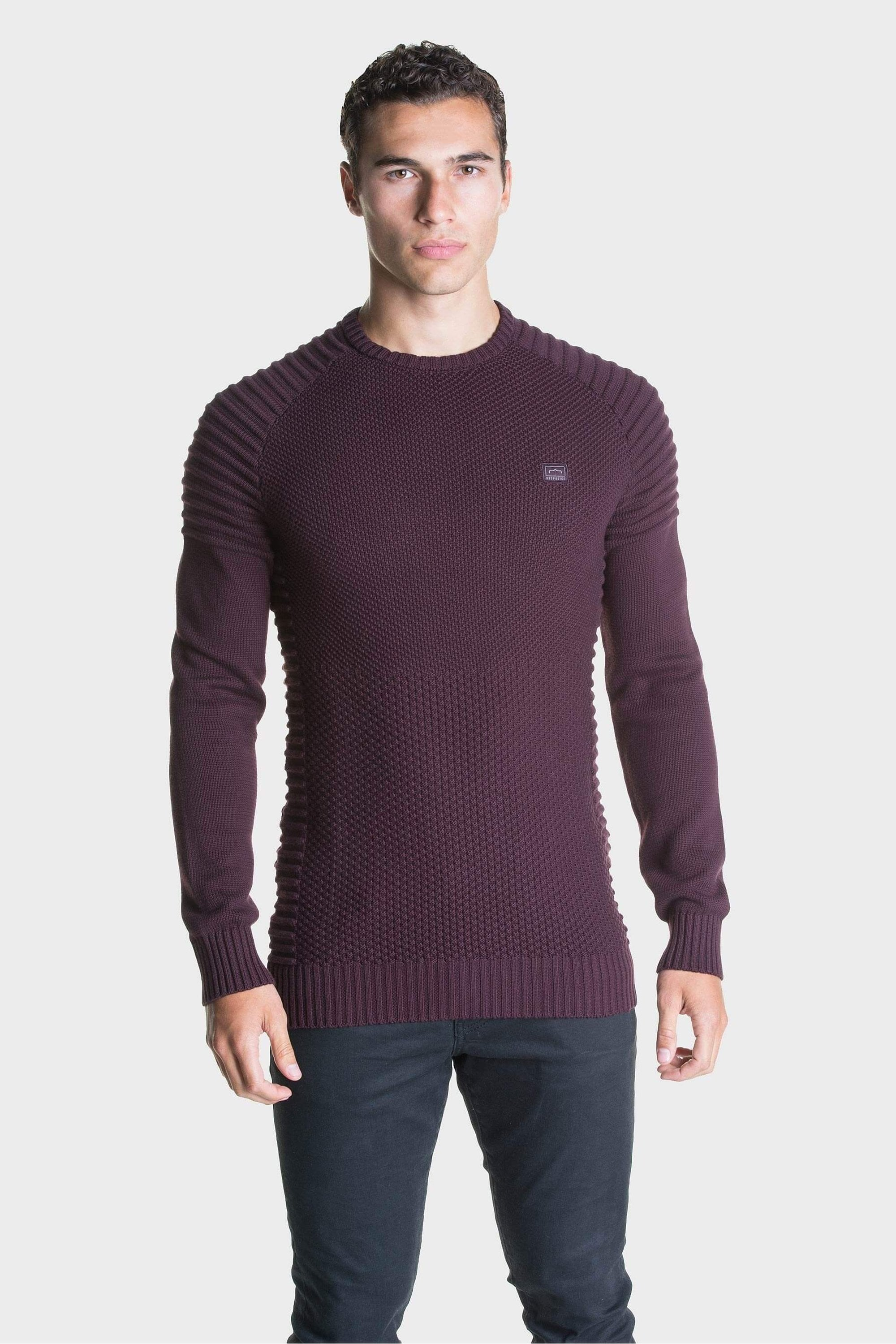 883 Police Don Ribbed Sleeves Jumper
