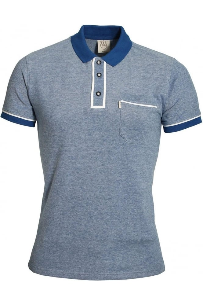 883 POLICE Lennox Polo Shirt | Eclipse Navy & Seapine Green