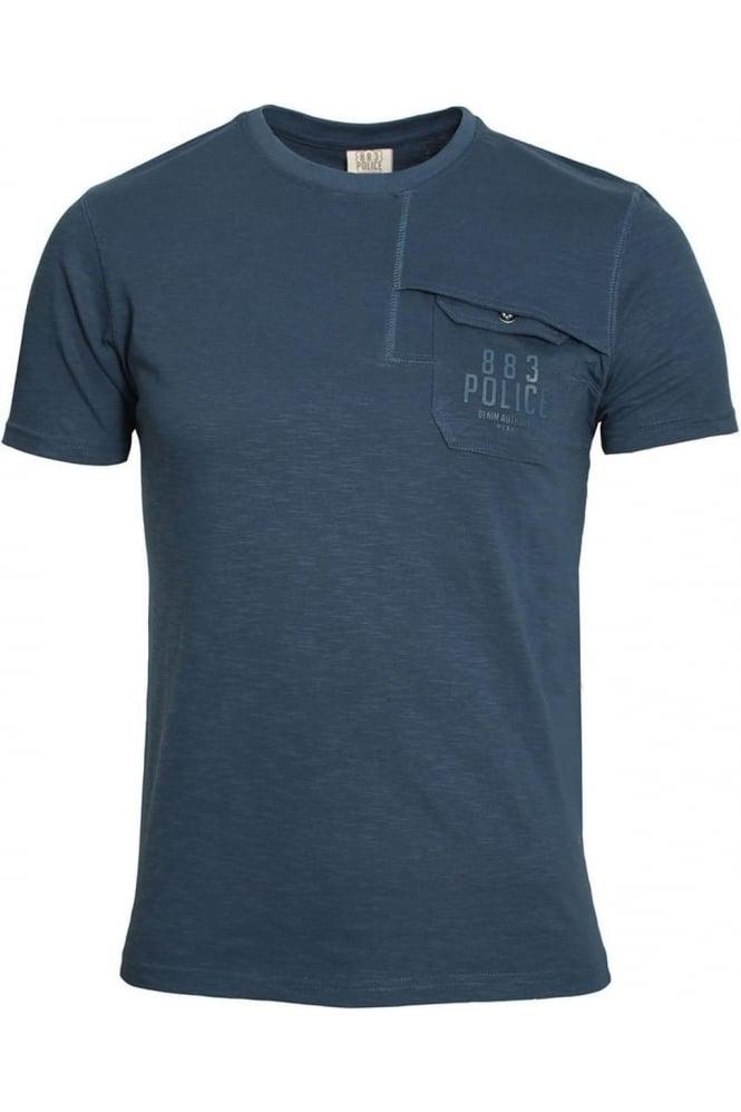 883 POLICE Lenny Pocket T-Shirt Navy & Off White