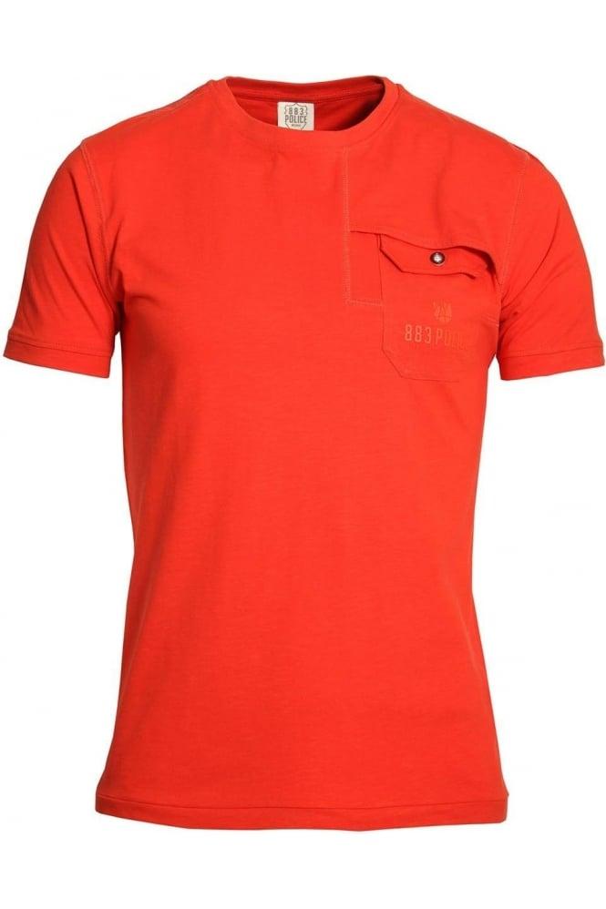 883 POLICE Lenny Pocket T-Shirt Spicy Orange