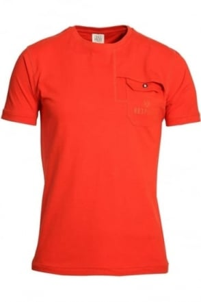 Lenny Pocket T-Shirt Spicy Orange