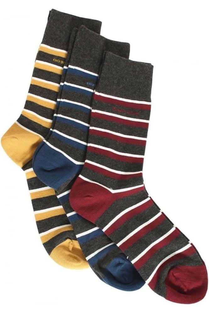 883 POLICE Lumo Striped Socks | 3 Pack