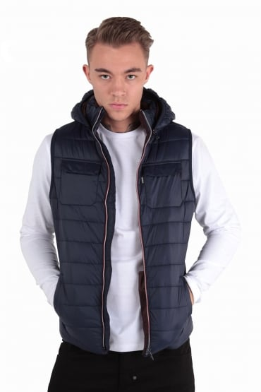 Marco Navy Hooded Gilet