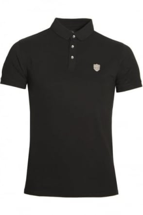 Mellor Cotton Polo Shirt Black