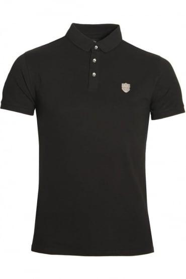 Mellor Cotton Polo Shirt Black