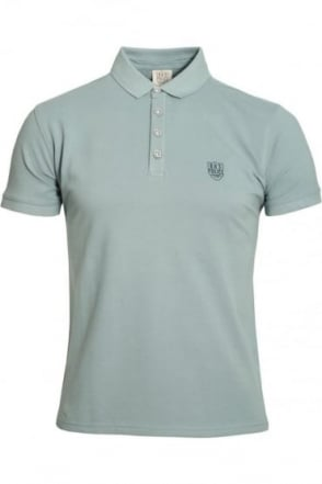 Mellor Polo Shirt | Charcoal & Green