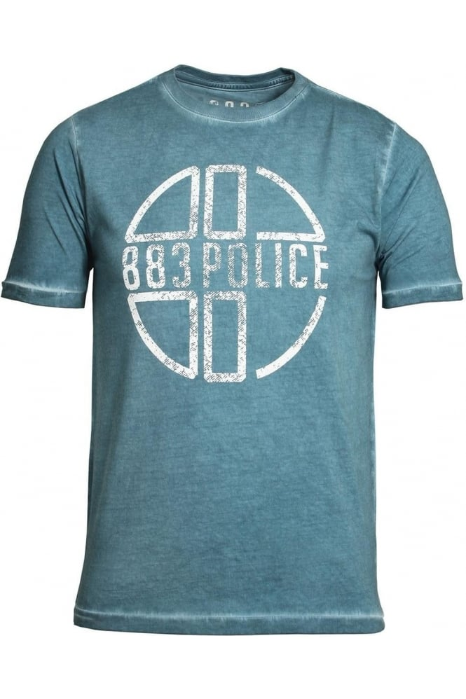 883 POLICE Miller Graphic Print T-Shirt Blue Moon