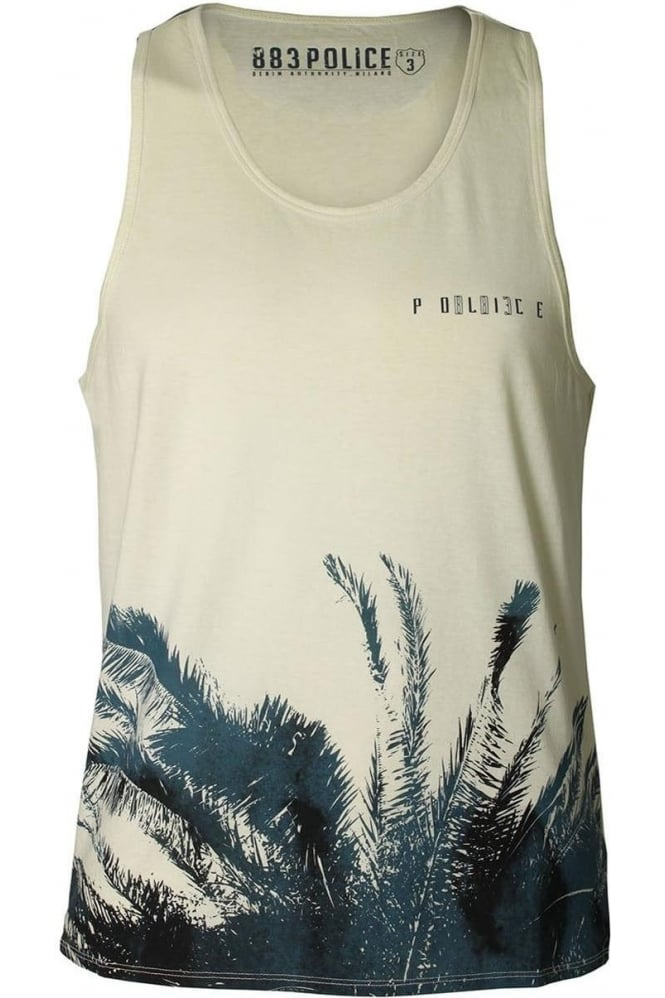 883 POLICE Moloy Vest   Off White & Charcoal