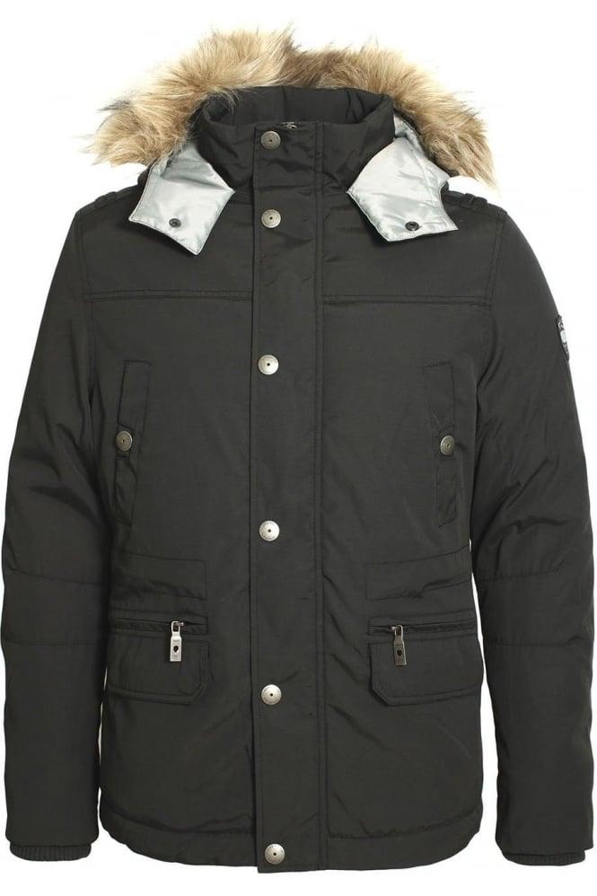 883 POLICE Myles Parka Jacket | Charcoal