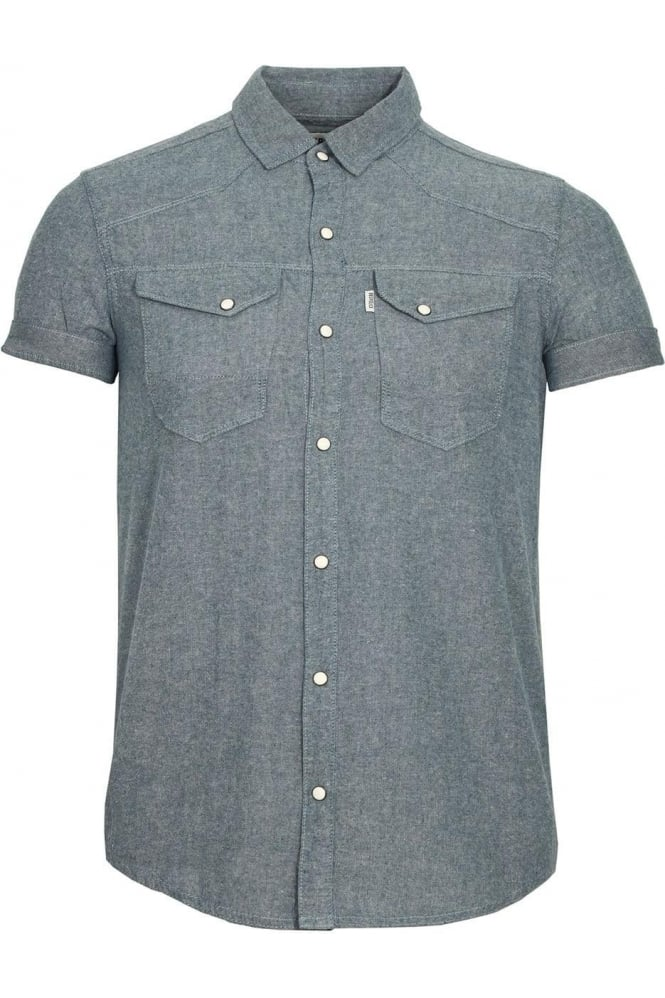 883 POLICE Oblivion Short Sleeve Shirt | Grey Marl