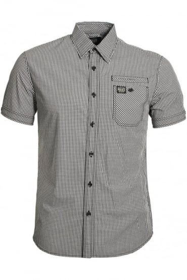 Ora Short Sleeve Checked Shirt Black