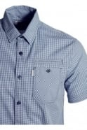883 POLICE Ora Short Sleeve Gingham Shirt Stellar Blue