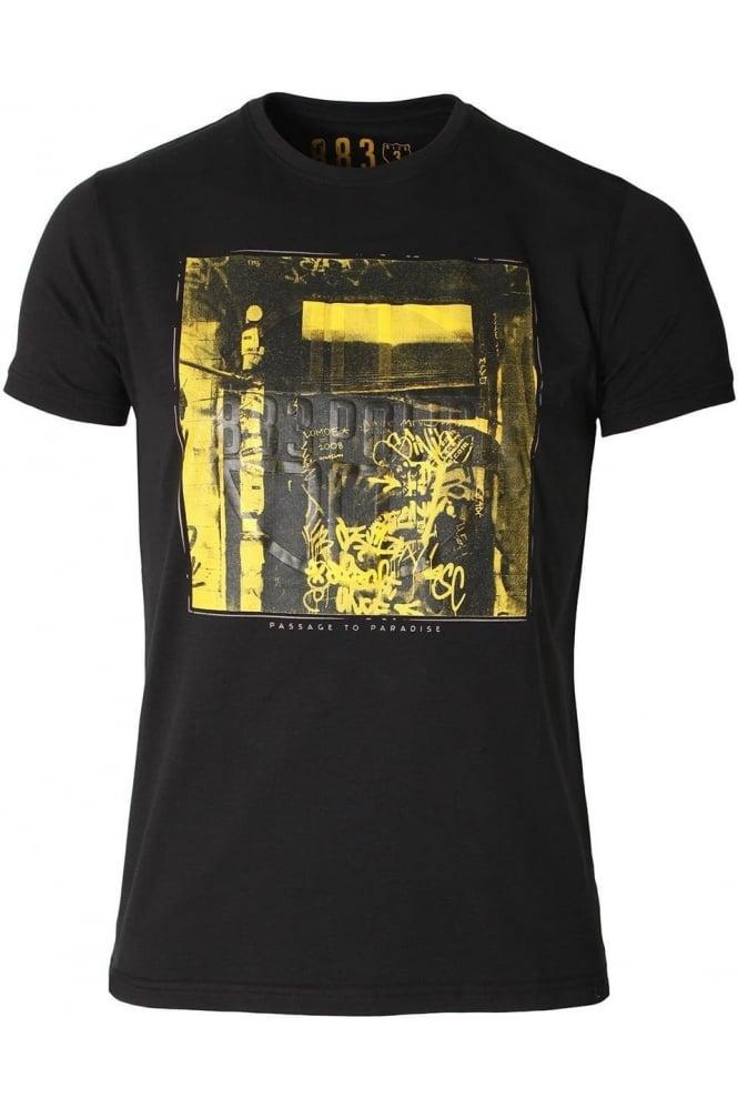 883 POLICE Pada Graphic Print T-Shirt | Night Black