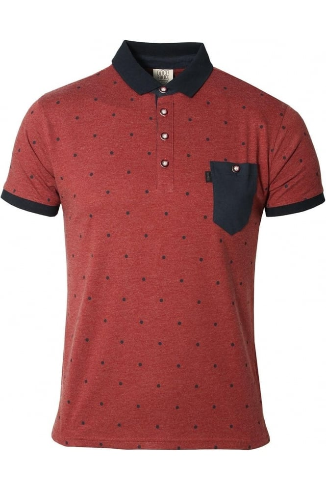 883 POLICE Radd Polo Shirt | Rosewood