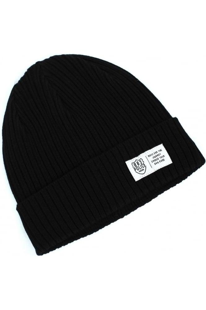883 POLICE Respa Men's Black Beanie Hat