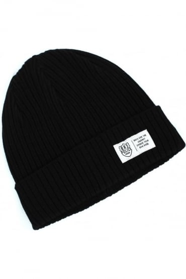 Respa Men's Black Beanie Hat