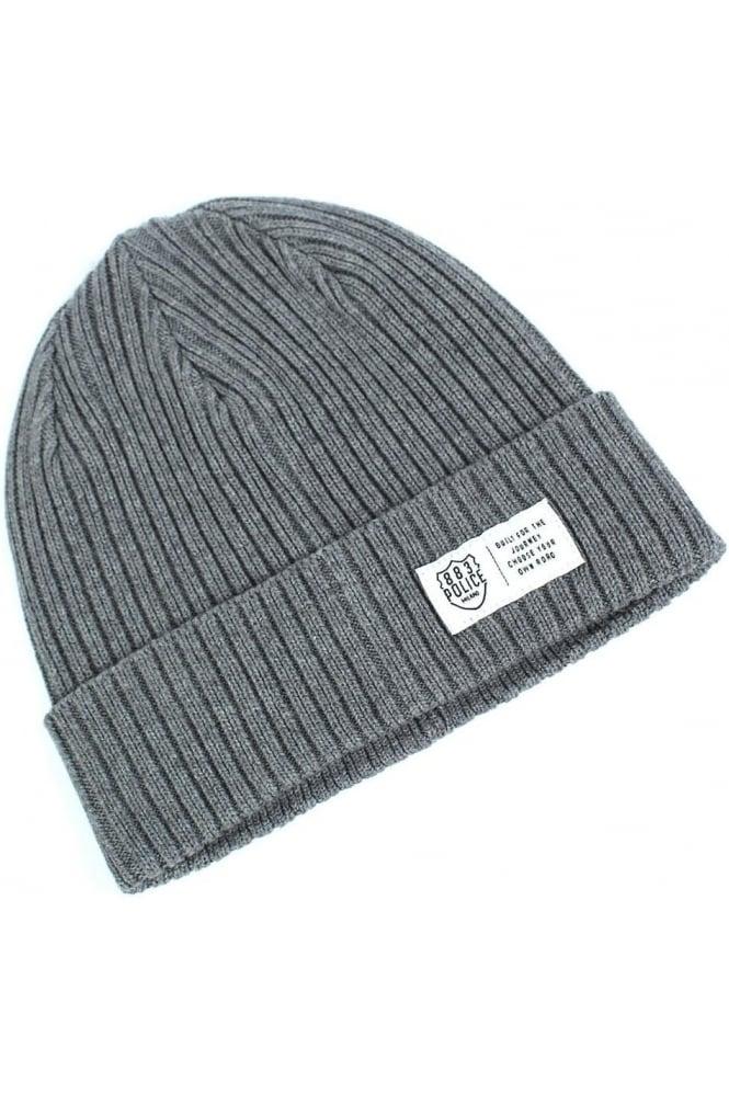 883 POLICE Respa Men's Grey Beanie Hat