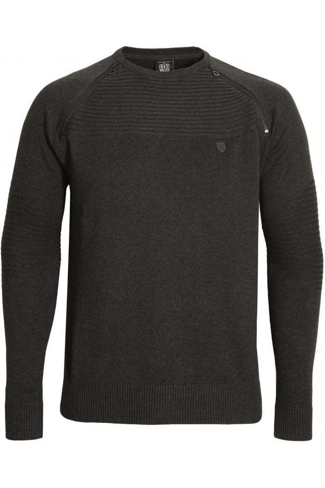 883 POLICE Riggs Men's Sweater Charcoal